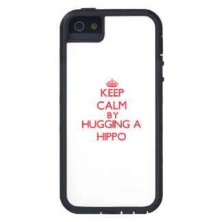 Keep calm by hugging a Hippo iPhone 5 Covers