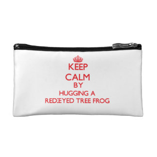 Keep calm by hugging a Red-Eyed Tree Frog Cosmetic Bag