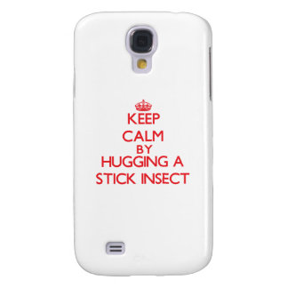 Keep calm by hugging a Stick Insect Galaxy S4 Cases