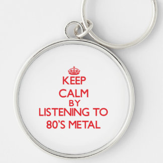 Keep calm by listening to 80'S METAL Keychain