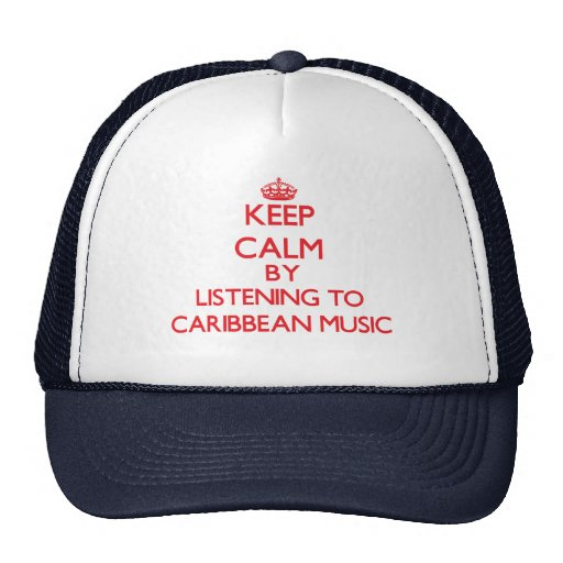 Keep calm by listening to CARIBBEAN MUSIC Mesh Hat