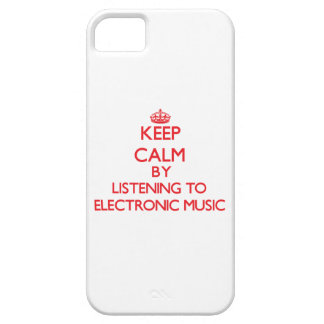 Keep calm by listening to ELECTRONIC MUSIC iPhone 5 Cover