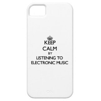 Keep calm by listening to ELECTRONIC MUSIC iPhone 5 Covers