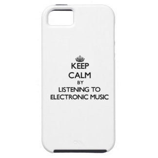 Keep calm by listening to ELECTRONIC MUSIC iPhone 5 Case