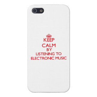 Keep calm by listening to ELECTRONIC MUSIC iPhone 5/5S Cases