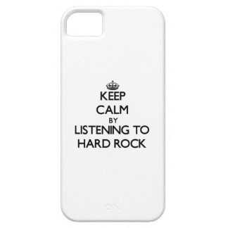 Keep calm by listening to HARD ROCK iPhone 5 Cases