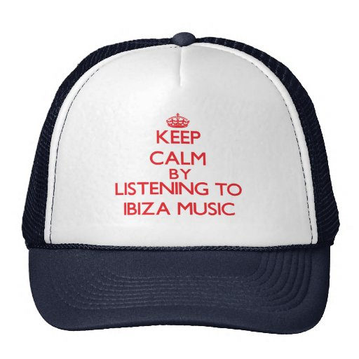 Keep calm by listening to IBIZA MUSIC Mesh Hat