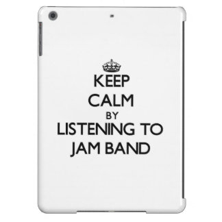 Keep calm by listening to JAM BAND iPad Air Case