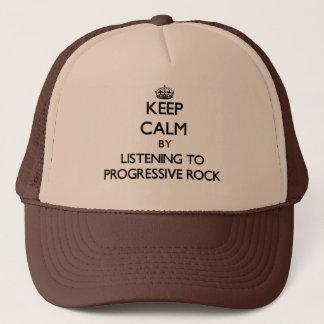 Keep calm by listening to PROGRESSIVE ROCK Trucker Hat
