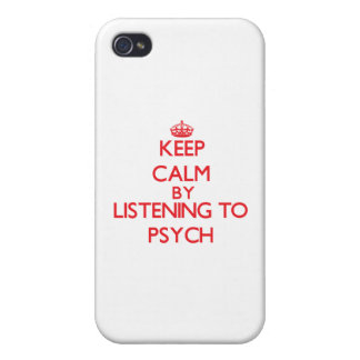 Keep calm by listening to PSYCH Case For iPhone 4