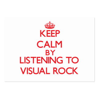 Keep calm by listening to VISUAL ROCK Business Card