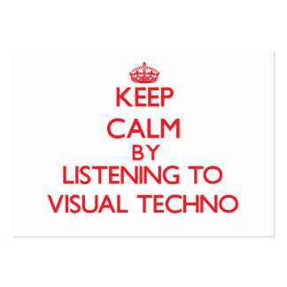Keep calm by listening to VISUAL TECHNO Business Card Templates