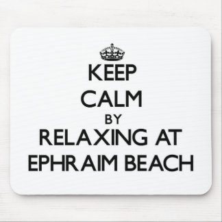 Keep calm by relaxing at Ephraim Beach Wisconsin Mousepads