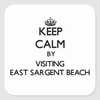 Keep calm by visiting East Sargent Beach Texas Square Sticker