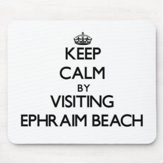 Keep calm by visiting Ephraim Beach Wisconsin Mousepads
