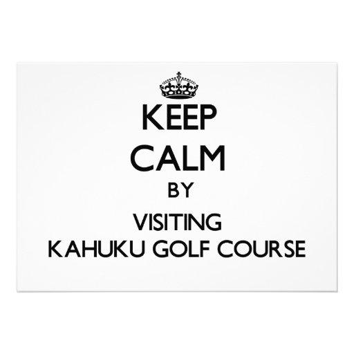 Keep calm by visiting Kahuku Golf Course Hawaii Custom Invite