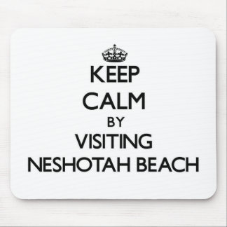 Keep calm by visiting Neshotah Beach Wisconsin Mouse Pads