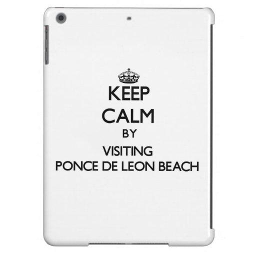 Keep calm by visiting Ponce De Leon Beach Florida iPad Air Case