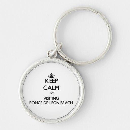 Keep calm by visiting Ponce De Leon Beach Florida Keychains