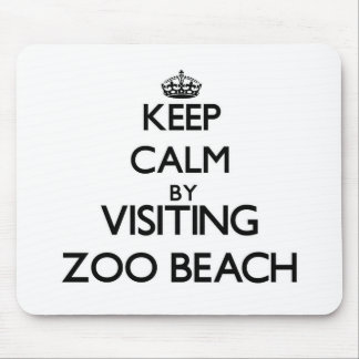 Keep calm by visiting Zoo Beach Wisconsin Mousepads