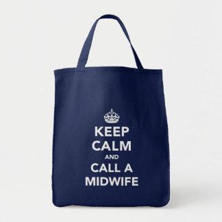 Keep Calm ...Call A Midwife Tote Bag