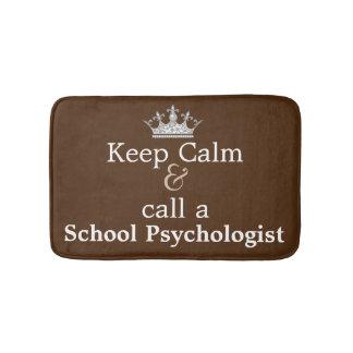 Keep Calm & Call A School Psychologist Bath Mat