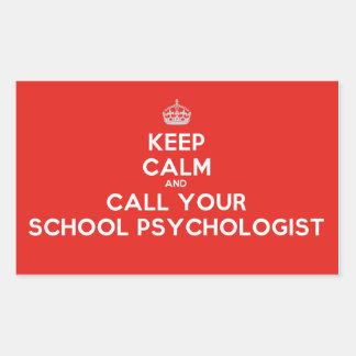 Keep Calm & Call a School Psychologist (Stickers) Sticker
