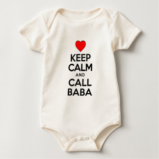 Keep Calm Call Baba Baby Bodysuit