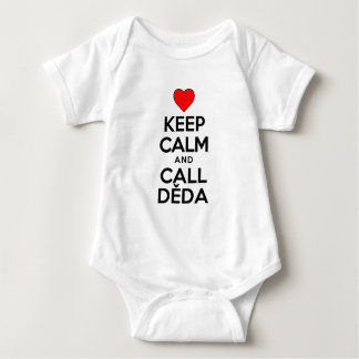 Keep Calm Call Deda Baby Bodysuit