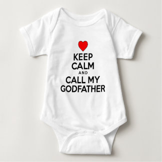 Keep Calm Call Godfather Baby Bodysuit