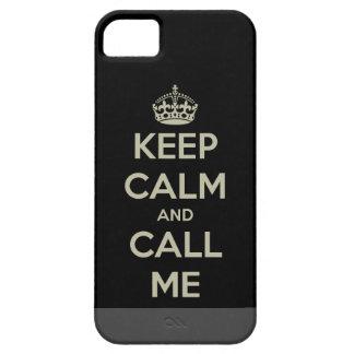 Keep Calm & Call Me iPhone 5 Cover