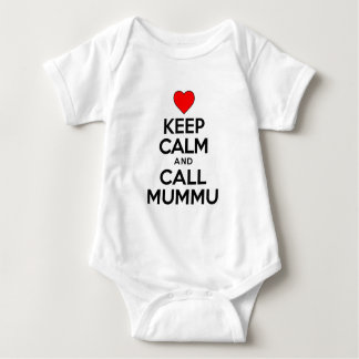 Keep Calm Call Mummu Baby Bodysuit