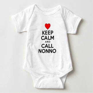 Keep Calm Call Nonno Baby Bodysuit
