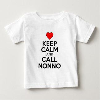 Keep Calm Call Nonno Baby T-Shirt