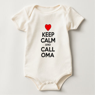 Keep Calm Call Oma Baby Bodysuit