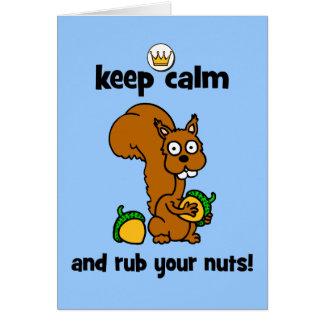 keep calm card