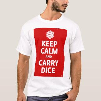 Keep Calm & Carry Dice (d20, red) T-Shirt