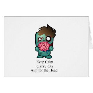 Keep Calm, Carry On, Aim for the Head Card