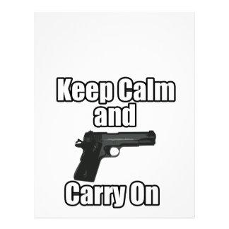 Keep Calm Carry On Customized Letterhead