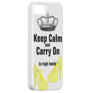 Keep Calm Carry On  High Heel Shoes iPhone 5 iPhone 5 Cases