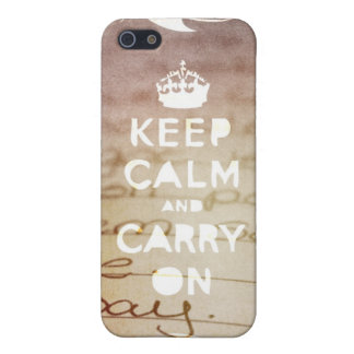 keep calm, carry on :) iPhone 5/5S case