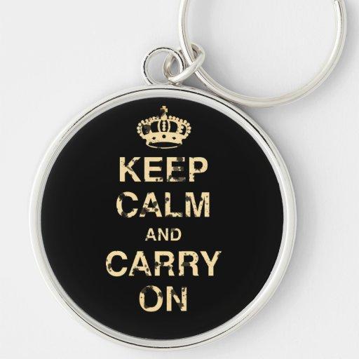 Keep Calm Carry On Key Chains