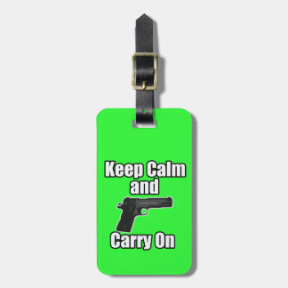 Keep Calm Carry On Luggage Tag