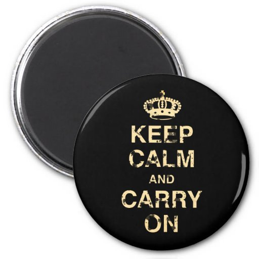 Keep Calm Carry On Refrigerator Magnet