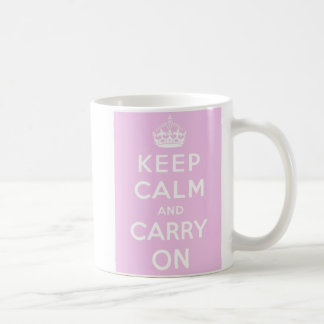 Keep Calm Carry On Mug - Pink