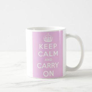 Keep Calm Carry On Mug - Pink