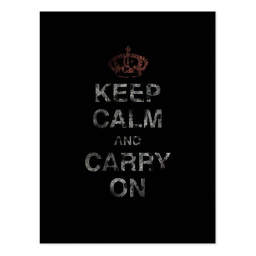 Keep Calm Carry On Post Cards