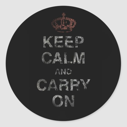 Keep Calm Carry On Stickers