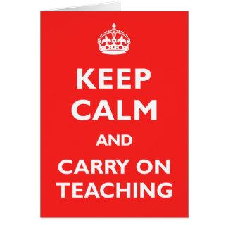 Keep Calm & Carry On Teaching Card