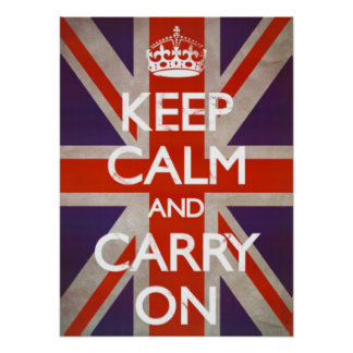 Keep Calm & Carry On - Union Jack Poster